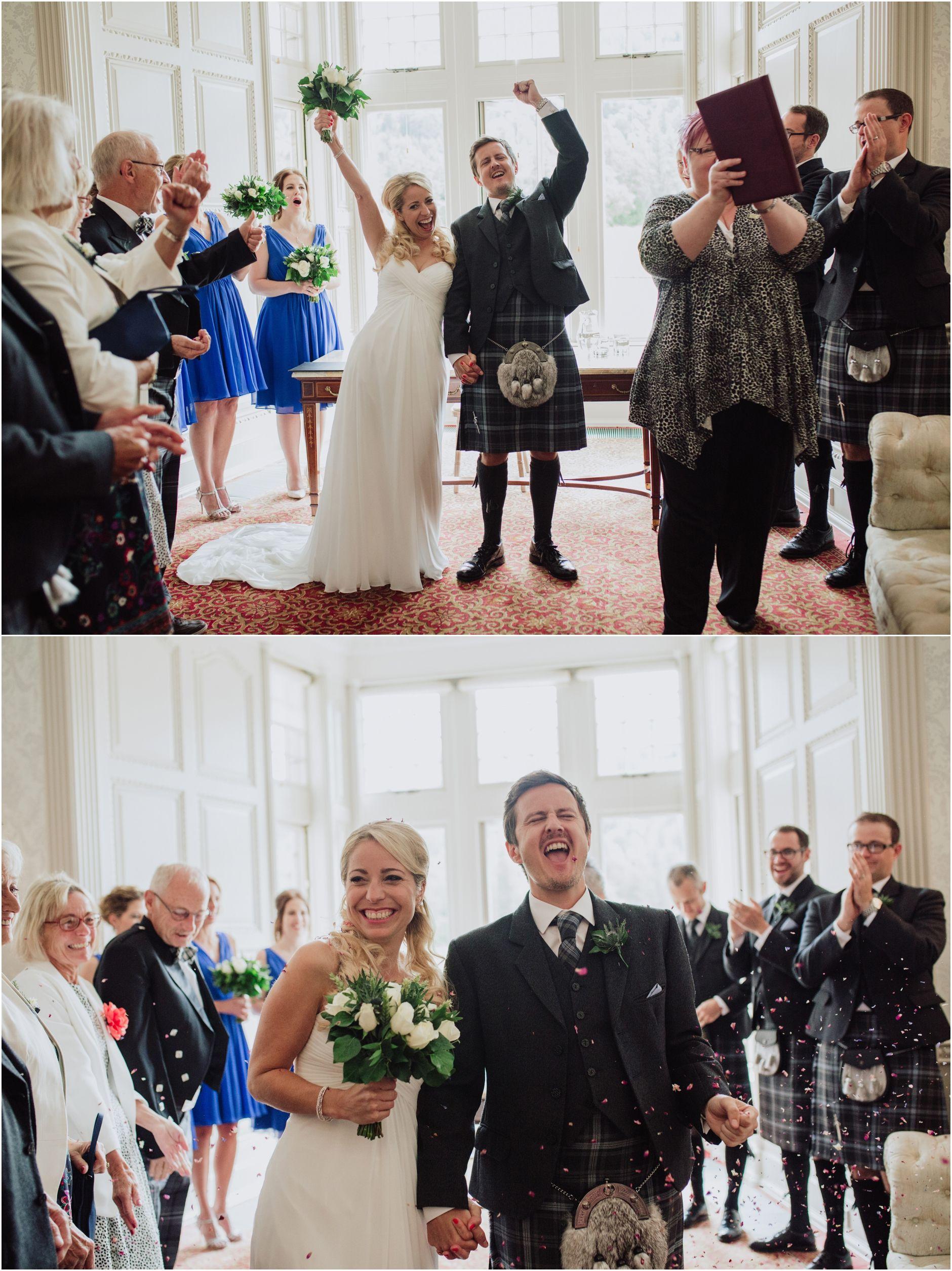 Scottish tartan wedding dress  mar lodge wedding scottish highlands cairngorms wedding photographer