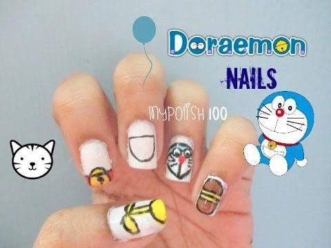 Easy Doraemon Nails Nails Pinterest