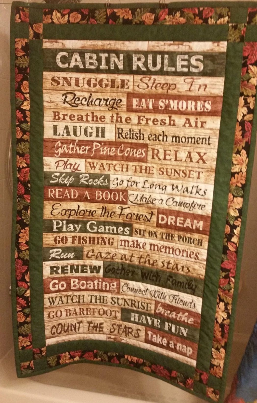 Pin by Dana R on Quilting (With images) Cabin rules