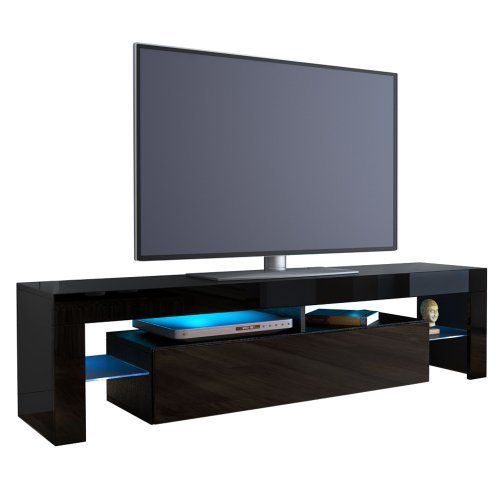 TV+Stand+Unit+Lima+in+Black+/+Black+High+Gloss,+  wwwamazon