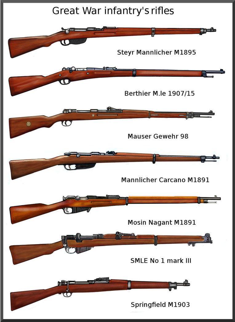 ww1 infantry rifles by AndreaSilva60 on DeviantArt | war ...
