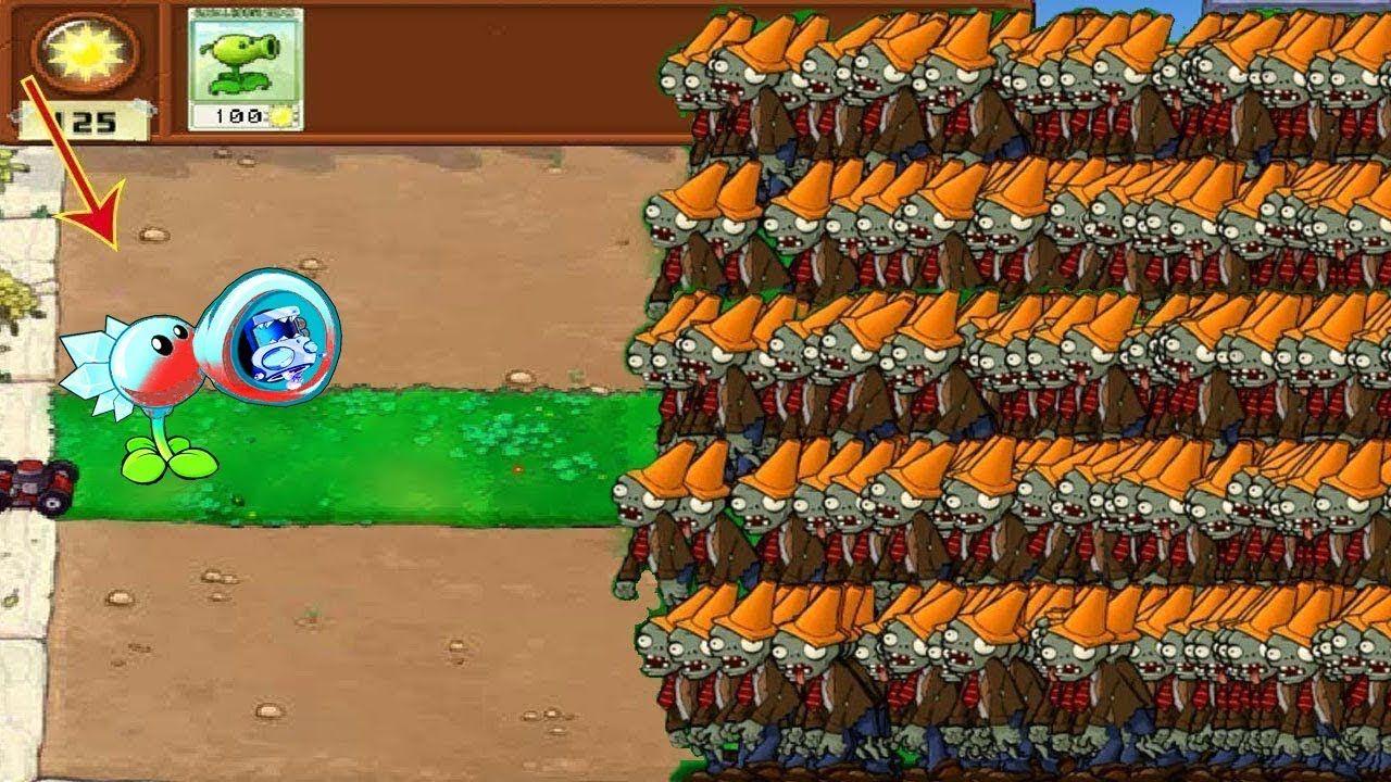 1 Peashooter vs 999 Conehead Zombie Hack PVZ PVZ GAME