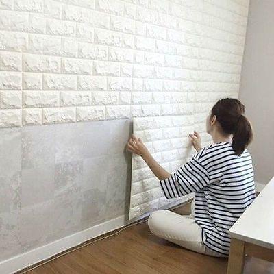 3d Diy Pe Ziegel Wasserfest Wandaufkleber Selbstklebend Panel Aufkleber 60 30cm Zuhause Diy Ziegel Design Wandpaneele