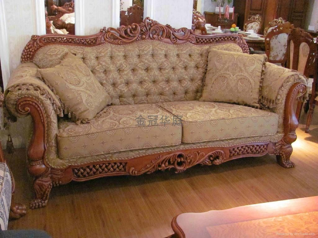 Latest wooden sofa set design pictures this for all for Gourmet furniture bed design