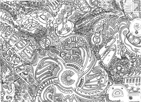 Stoner Coloring Book  deep in the swamp  coloring book page in