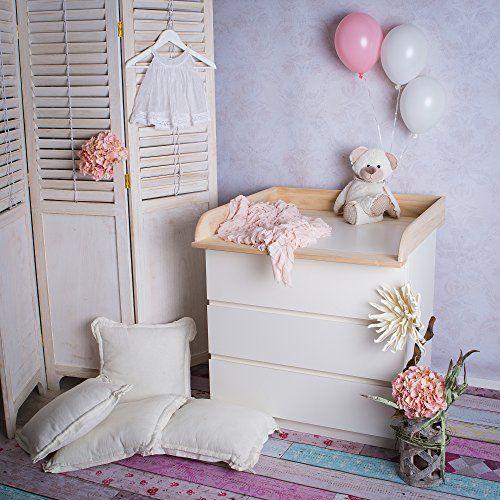 naturholz wickeltischaufsatz f r ikea malm mandal brusali kommode kinderzimmer pinterest. Black Bedroom Furniture Sets. Home Design Ideas
