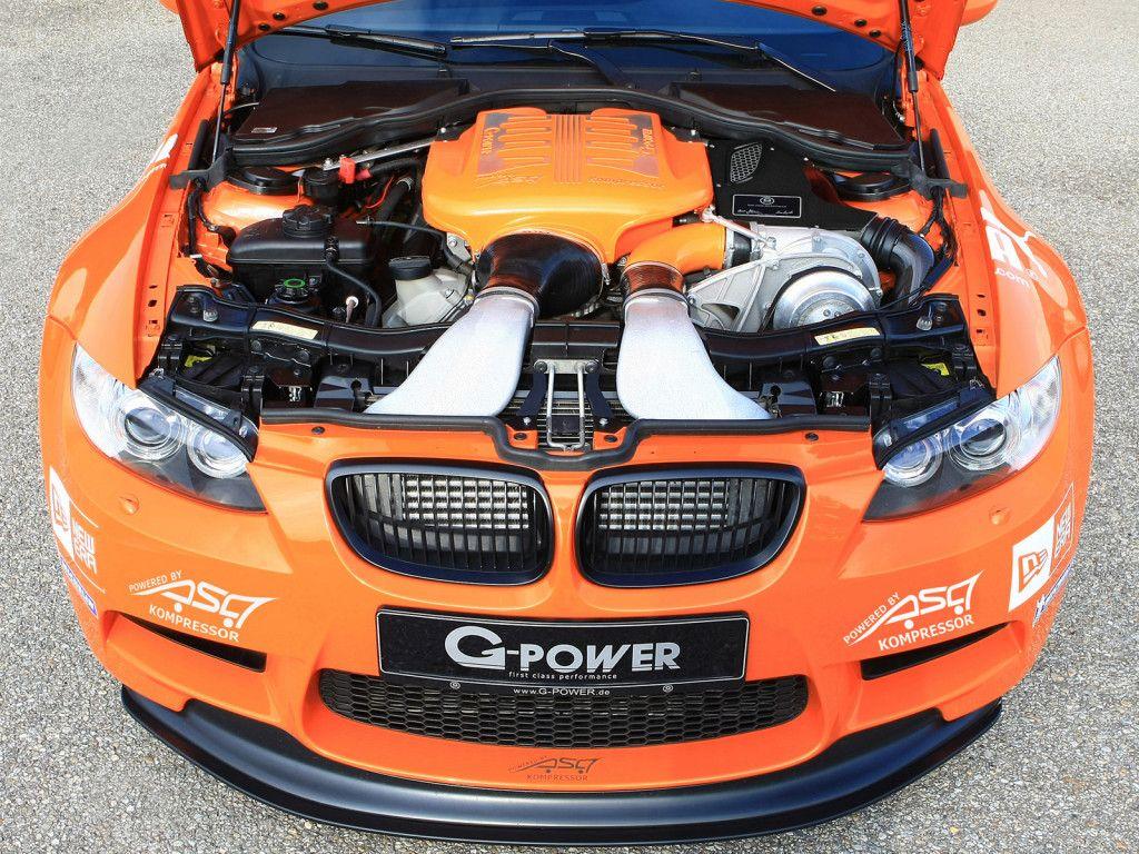 Motor upraveného BMW M3 GPower z roku 2013 Bmw, Bmw m3