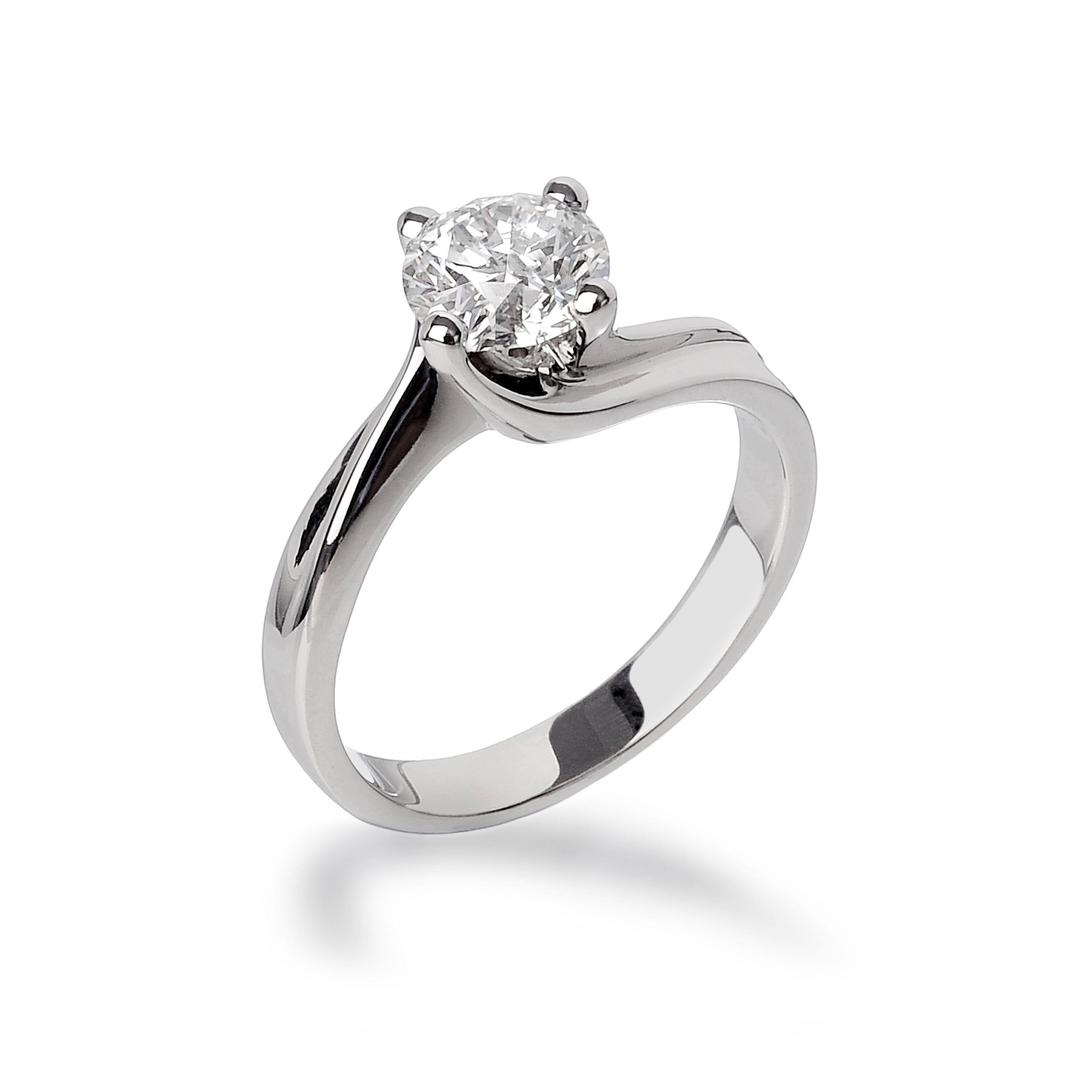 Valentina Anello Solitario In Oro Bianco Anelli Di Fidanzamento Con Diamanti Anelli Con Diamanti Anelli Di Fidanzamento Da Sogno