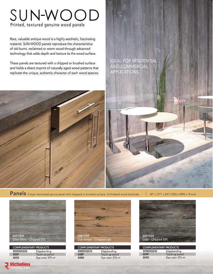 Catalog   Sun Wood   Page 2   Richelieu Hardware | Wall Ideas | Pinterest |  Catalog, Hardware And Floor Painting