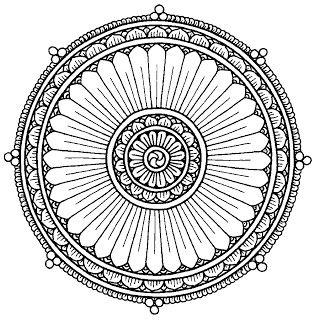 Heraldie Rosaces Et Mandalas Buddhismus Indisches Henna Ausmalbilder