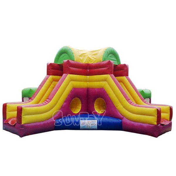 cool inflatable amusement park for kids double tunnel entrance rh pinterest com