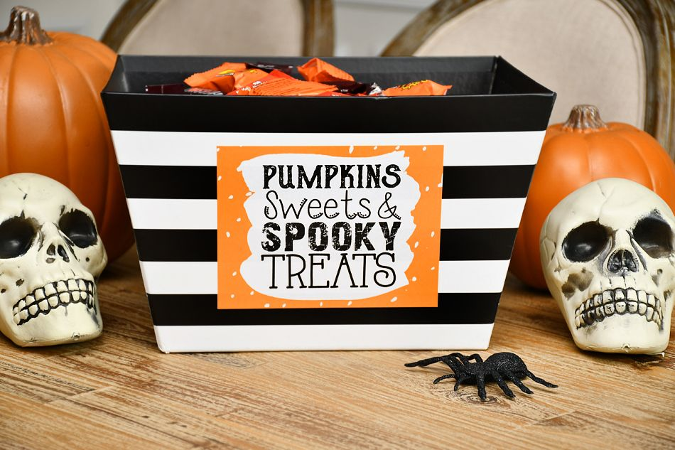 DIY Halloween Candy Bowl Trick or Treat Candy Bowl