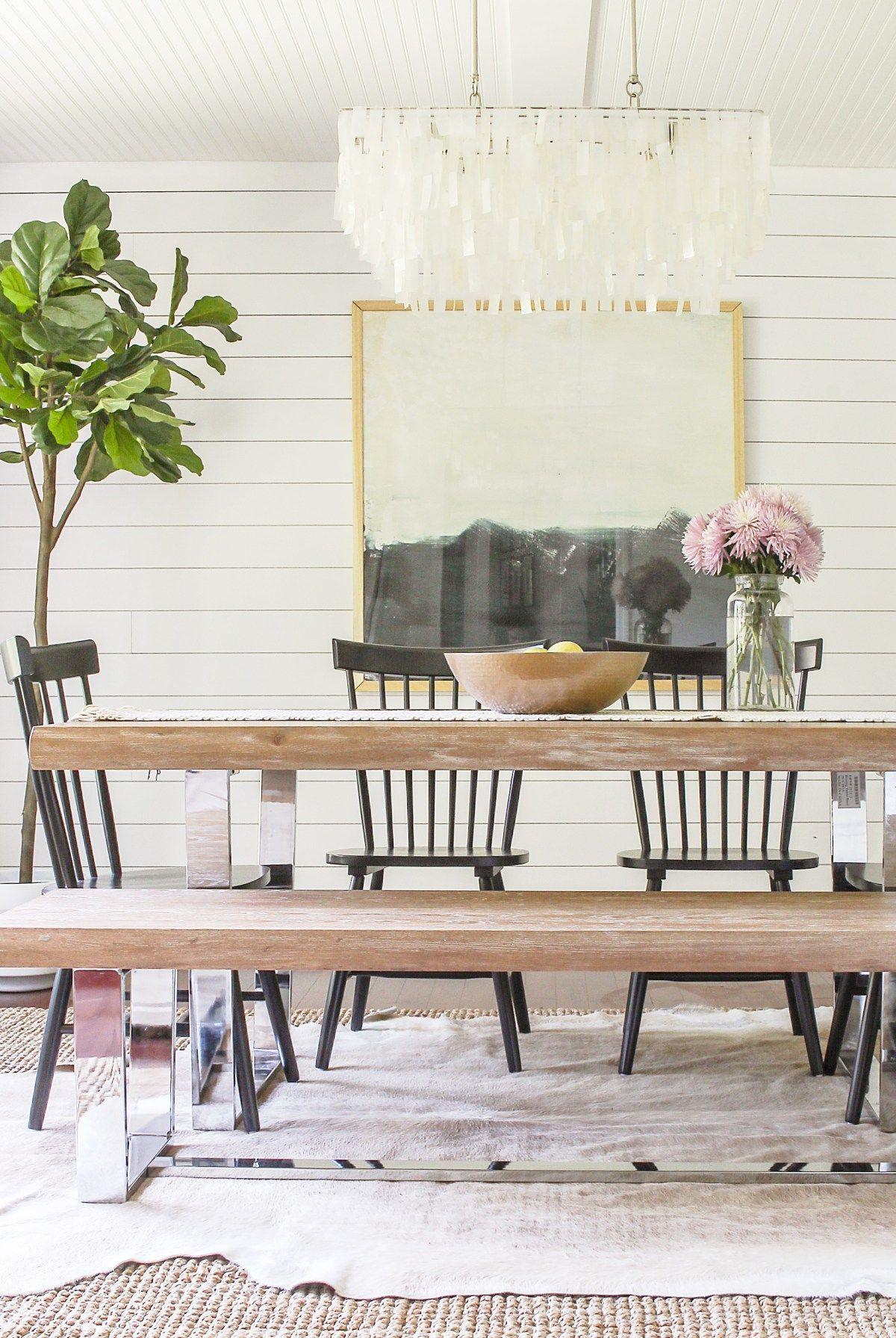 diy modern glam farmhouse meets coastal rustic dining room makeover rh pinterest com