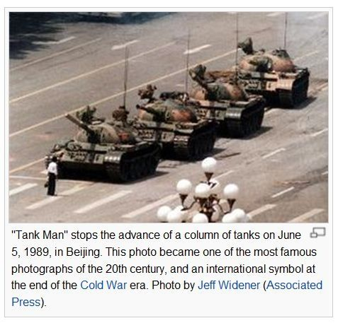 This Is Tank Man Who Stopped A Line Of Tanks After The Awful Event