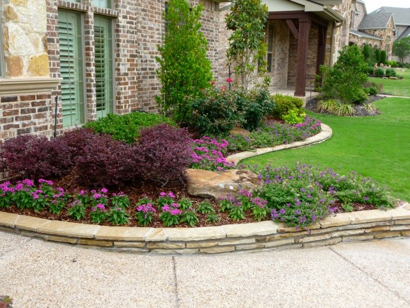 Flower plants trees green meadows landscaping design for Garden design landscaping dallas tx