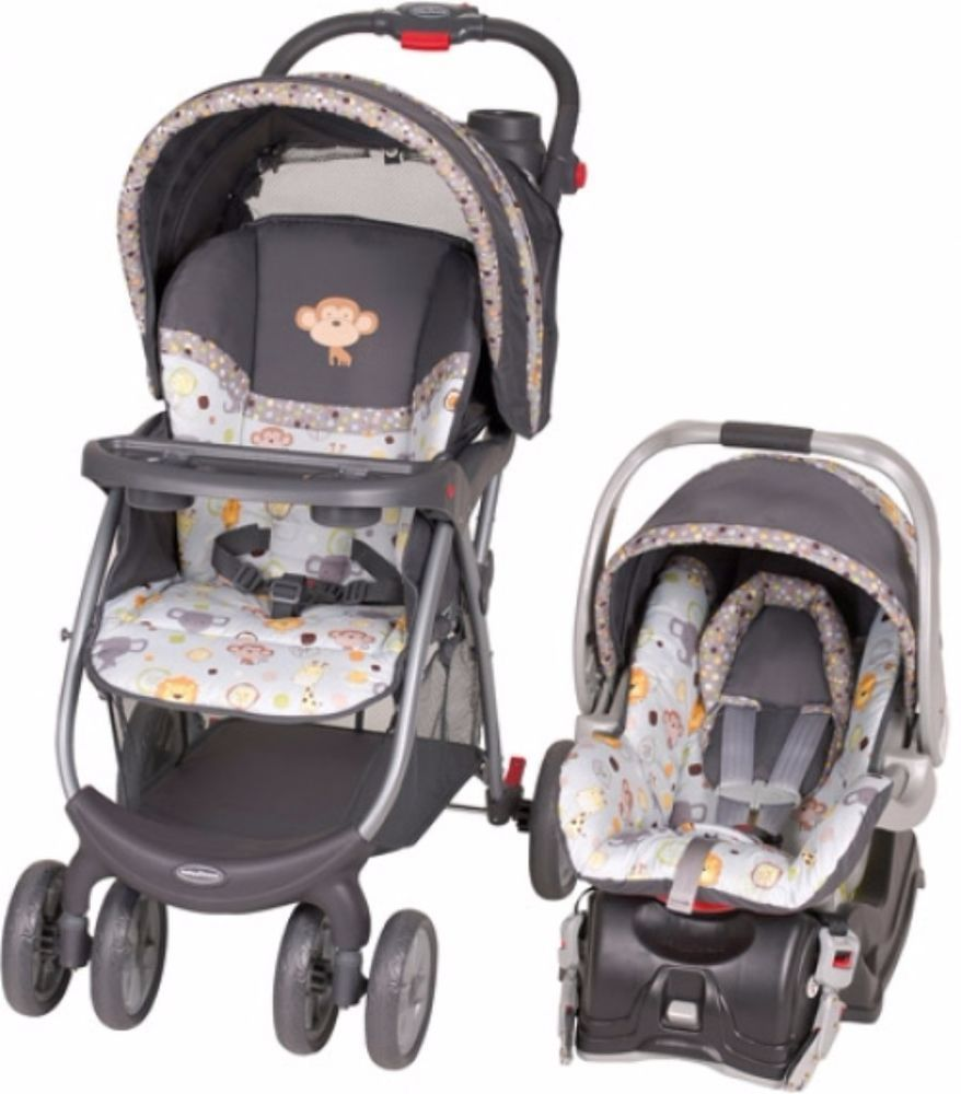 Stroller Car Seat Combo Travel System Infant Safety Baby Folding Cup