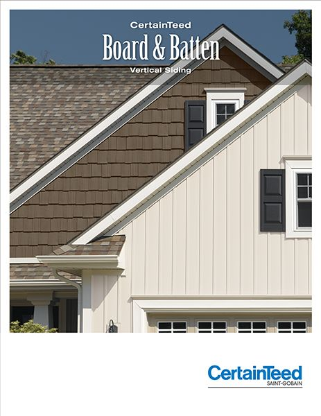 Vinyl Board And Batten Low Maintenance Since It Never Needs To Be Repainted Vinyl Siding House Cottage Exterior House Colors