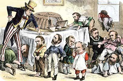 Image result for gilded age political cartoons corruption