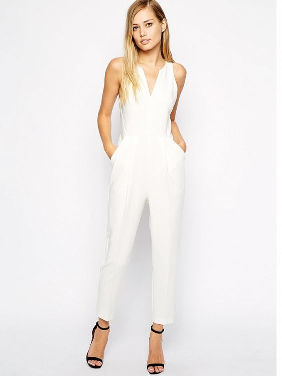 1cec30282a4 28 Chic Spring Bridal Shower Outfits To Get Inspired  Jumpsuits
