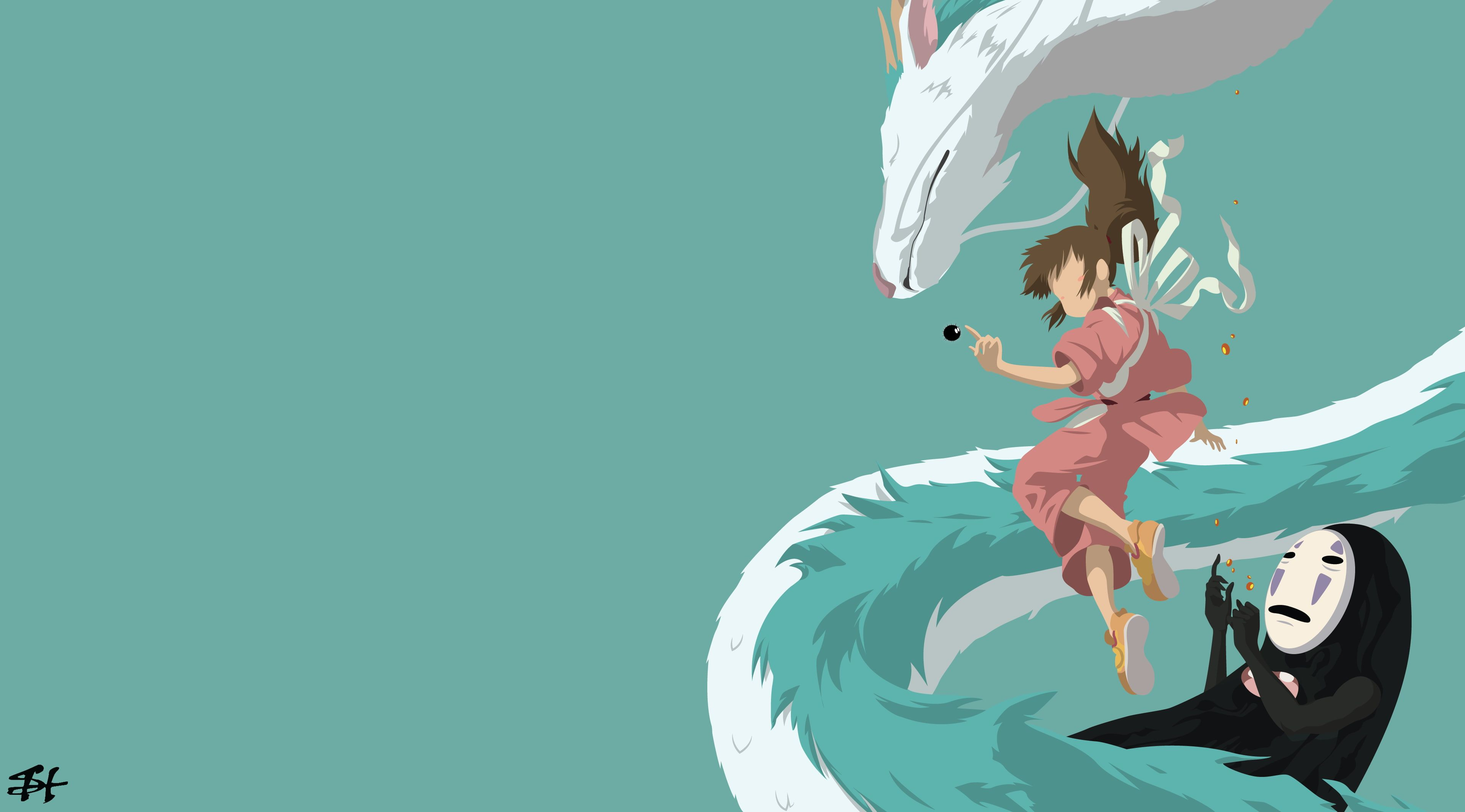 Spirited Away Chihiro Minimalism 4k Wallpaper Hdwallpaper Desktop In 2020 Desktop Wallpaper Art Spirited Away Wallpaper Anime Wallpaper Live