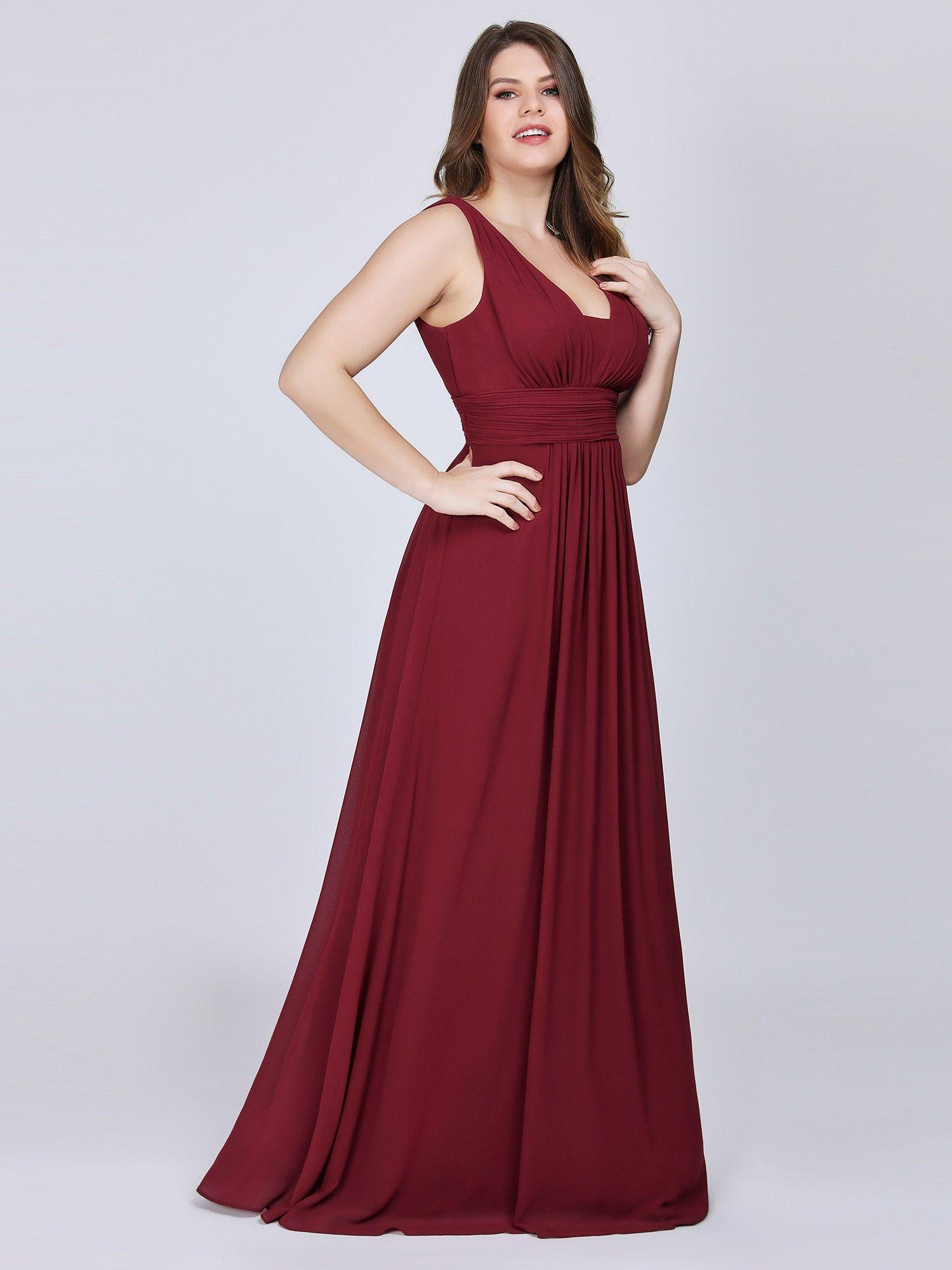 Sleeveless V-Neck Semi-Formal Maxi Dress | Ever-Pretty # ...
