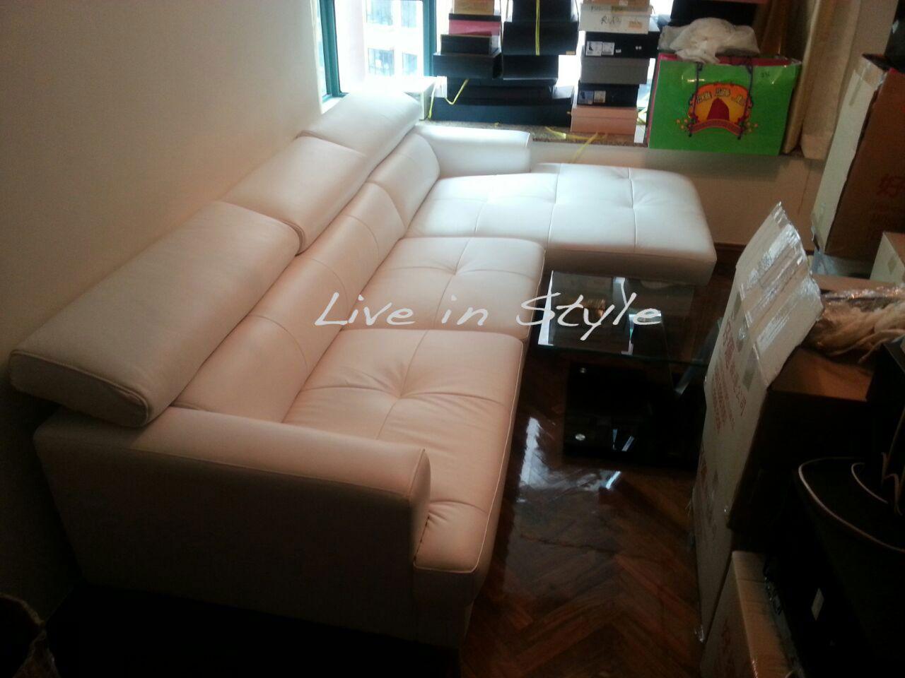 Arezzo Sofa Wl053 Leather Sofa Colourful Cushions Sofa Seats