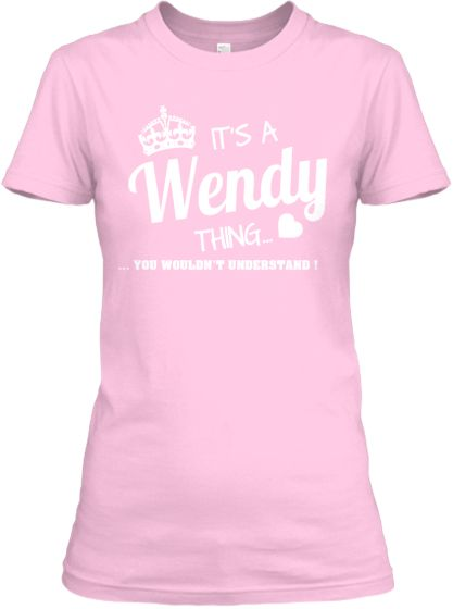 It's a WENDY thing