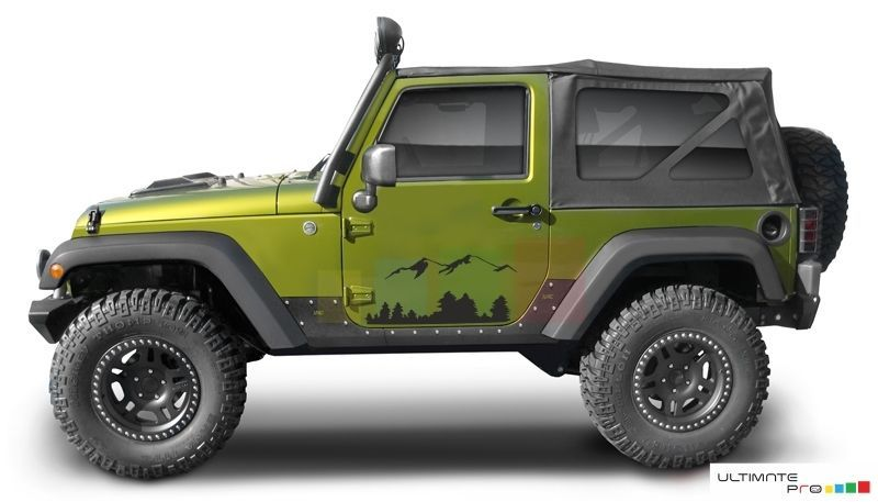 decal for jeep wrangler cover side door emblem bar step trim grip rh pinterest com