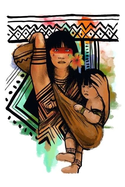 Maternidade Indigena Arte Mexicana Arte Latina Desenho Indio
