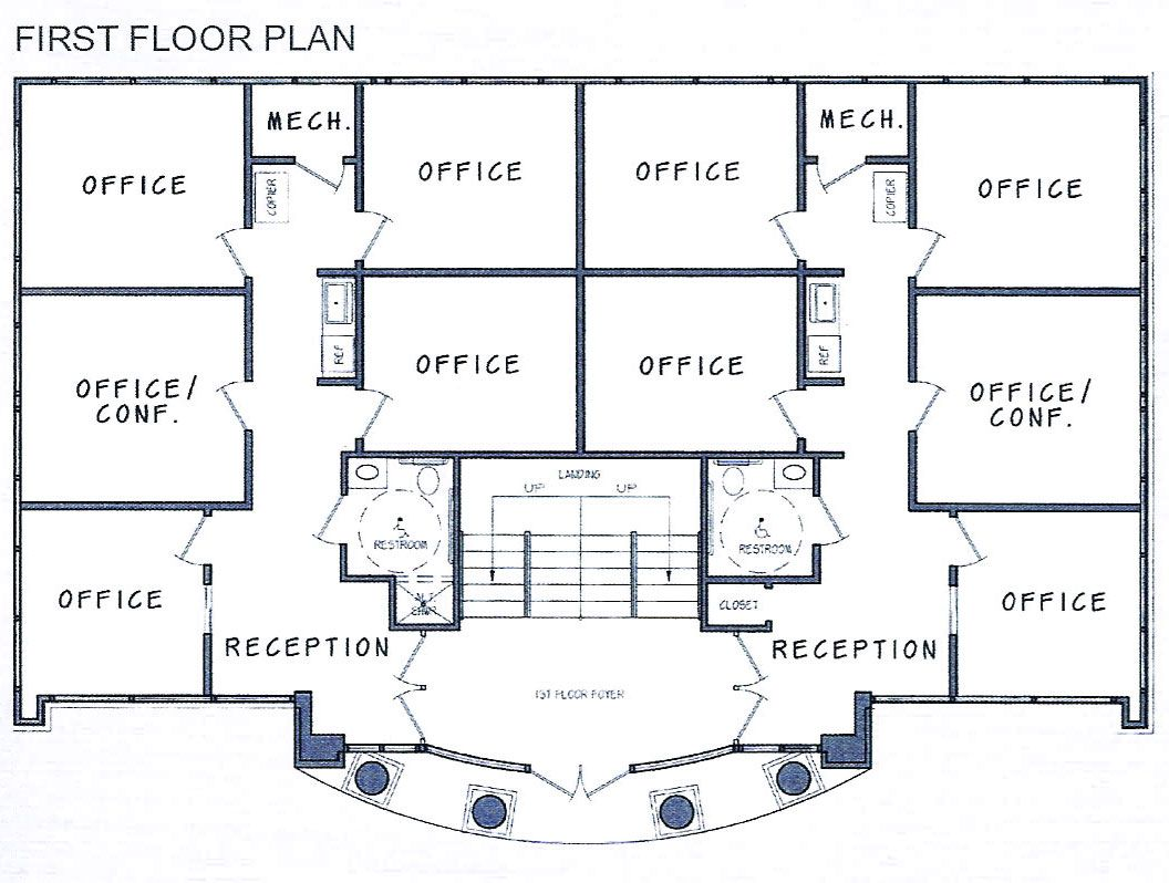Decoration ideas office building floorplans for the for Standard house plans free