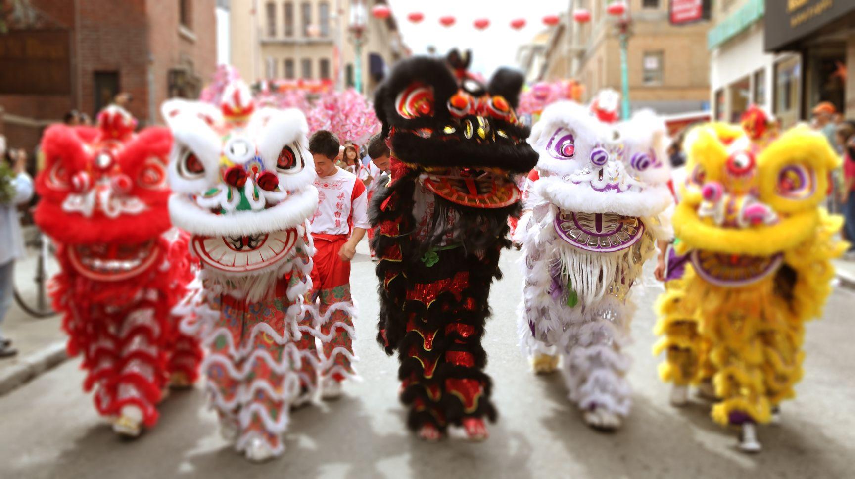 Liondance Chinesenewyear Dragon Dance Lion Dance Chinese Lion Dance