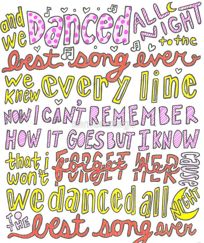 One Direction Best Song Ever Lyrics Art Song Lyrics Lyrics