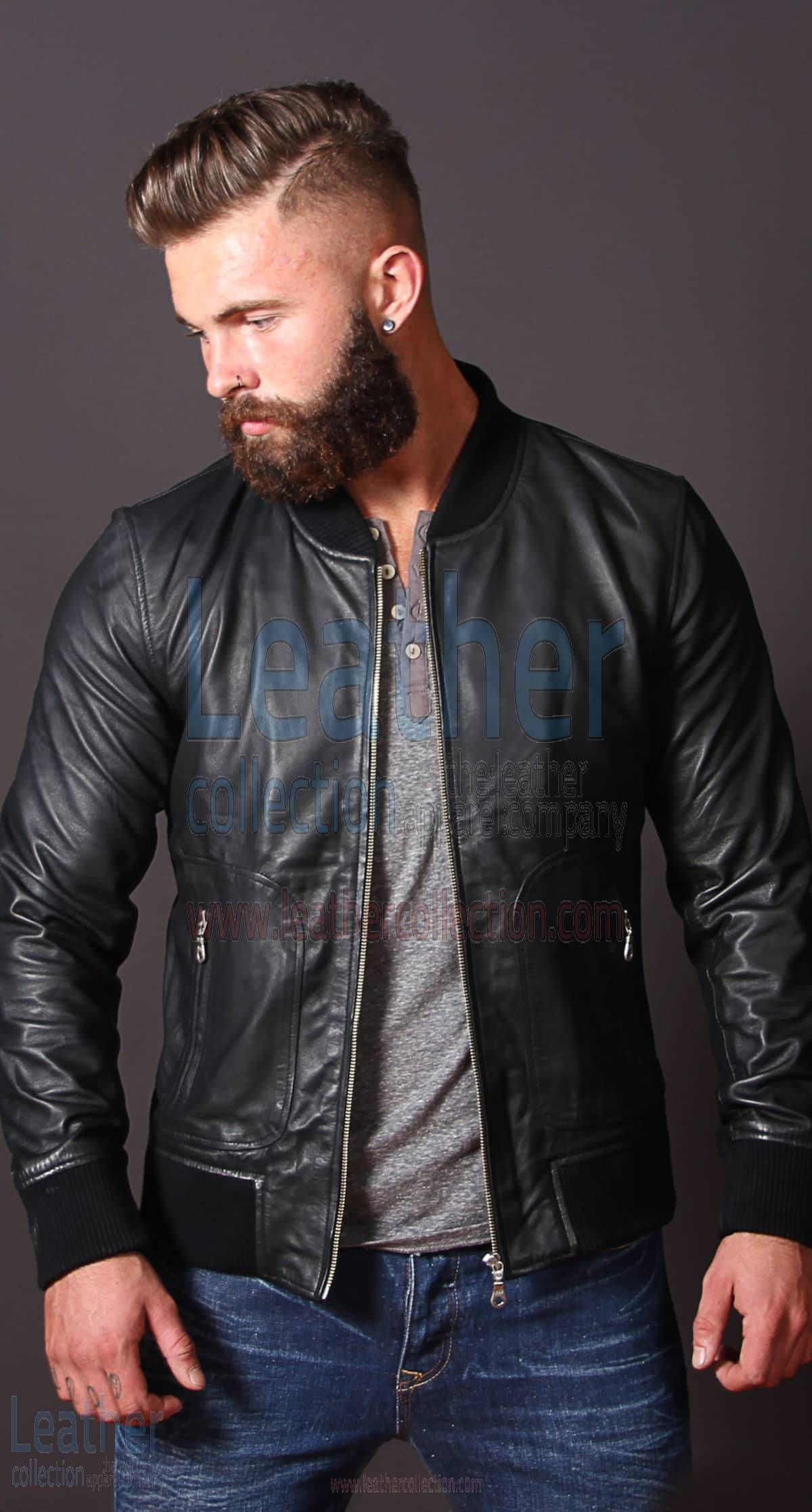 Heritage Leather Jacket Mens Leather Bomber Jacket Leather Jacket Men Black Leather Bomber Jacket [ 2235 x 1200 Pixel ]