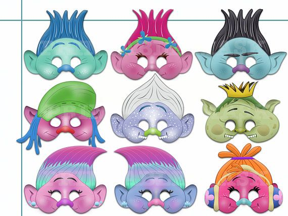 graphic relating to Printable Trolls titled Pin upon Handmade
