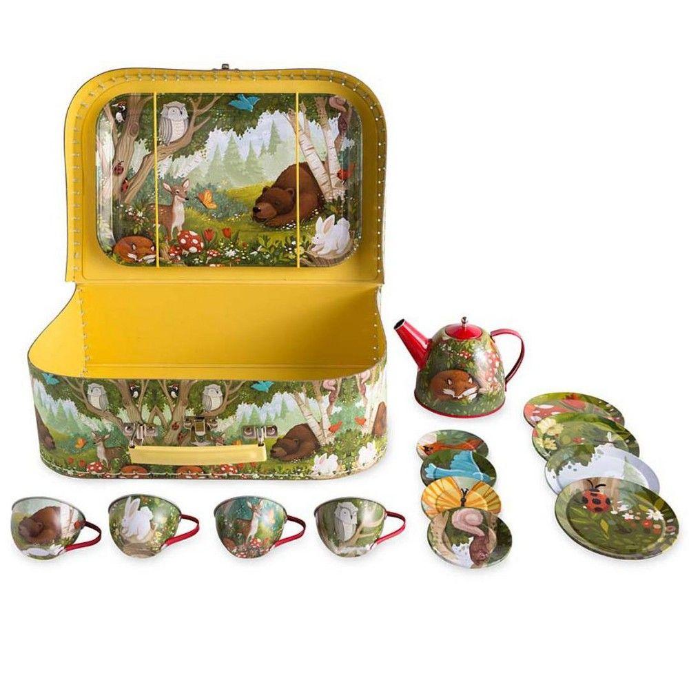HearthSong/® Woodland Tin Tea Set