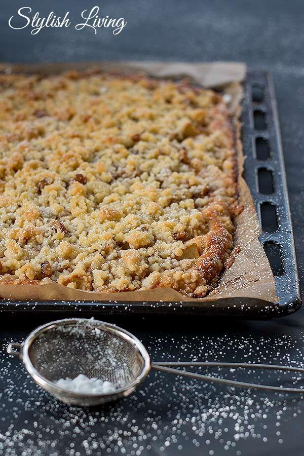 Apfelstreuselkuchen Vom Blech Backen Pinterest Kuchen Apfel