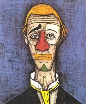 bernard buffet head of a clown 1955 clowns pinterest buffet rh pinterest com