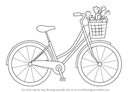 This Easy Tutorial Will Help You Learn To Draw A Cartoon Bicycle So Let S See How You Could Draw A Simple Bicy Bicycle Drawing Bike Drawing Embroidery Art