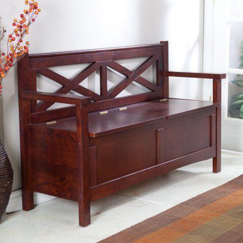 Home Wooden Bench Indoor Wooden Storage Bench Storage Bench
