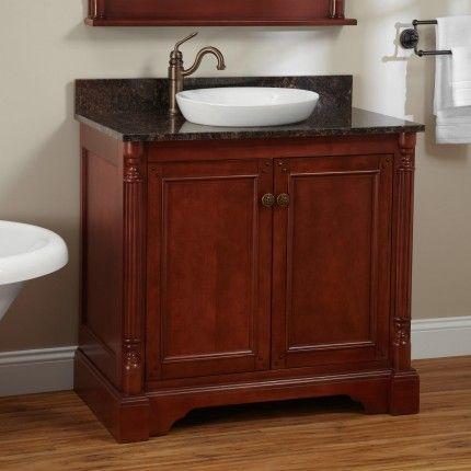36 trevett vanity for semi recessed sink cherry home remodel rh pinterest com