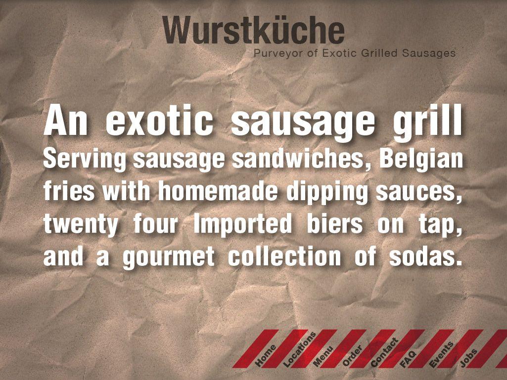 Wurstkuche menu denver