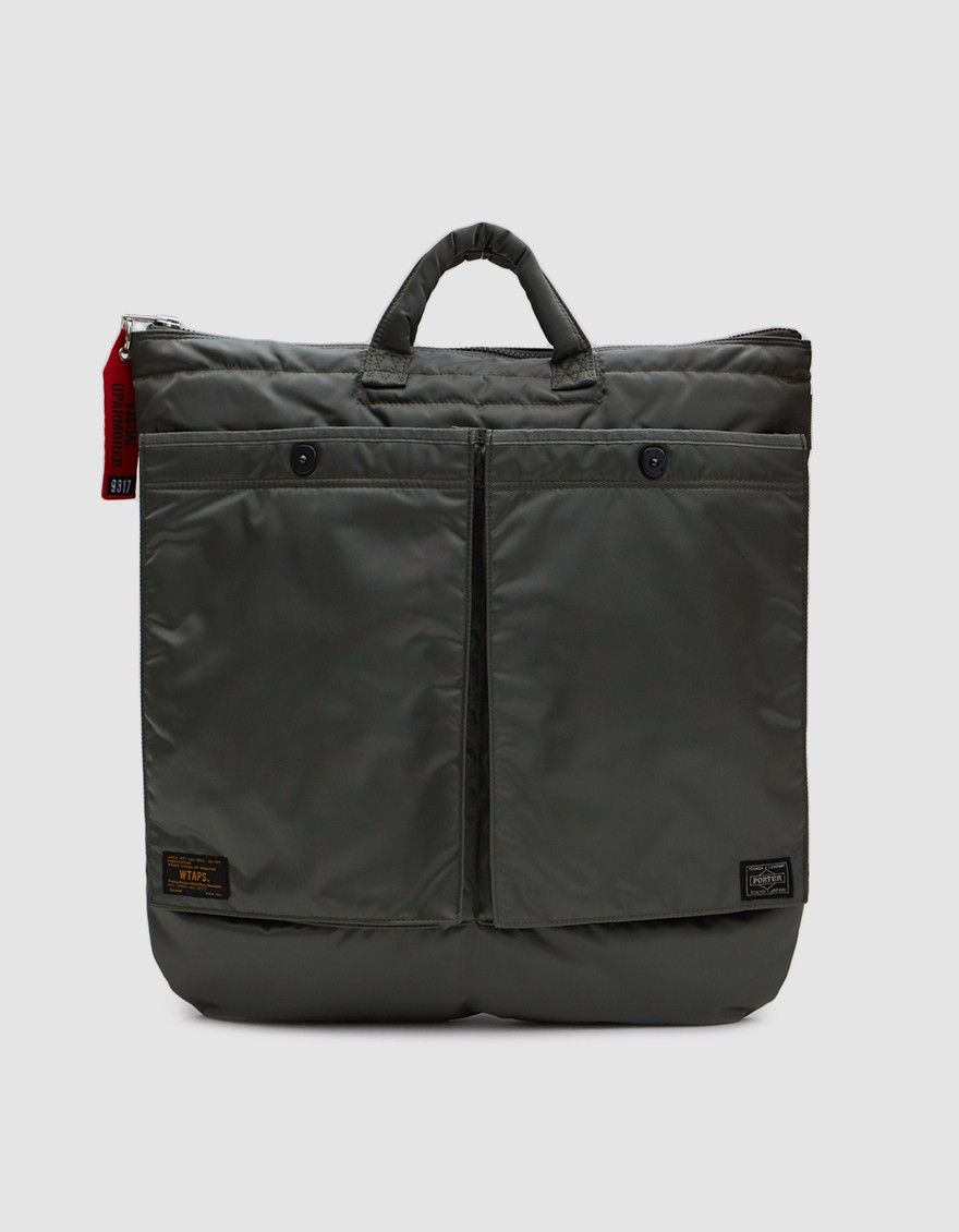 WTAPS / Porter 2Way Helmetbag in Olive Drab