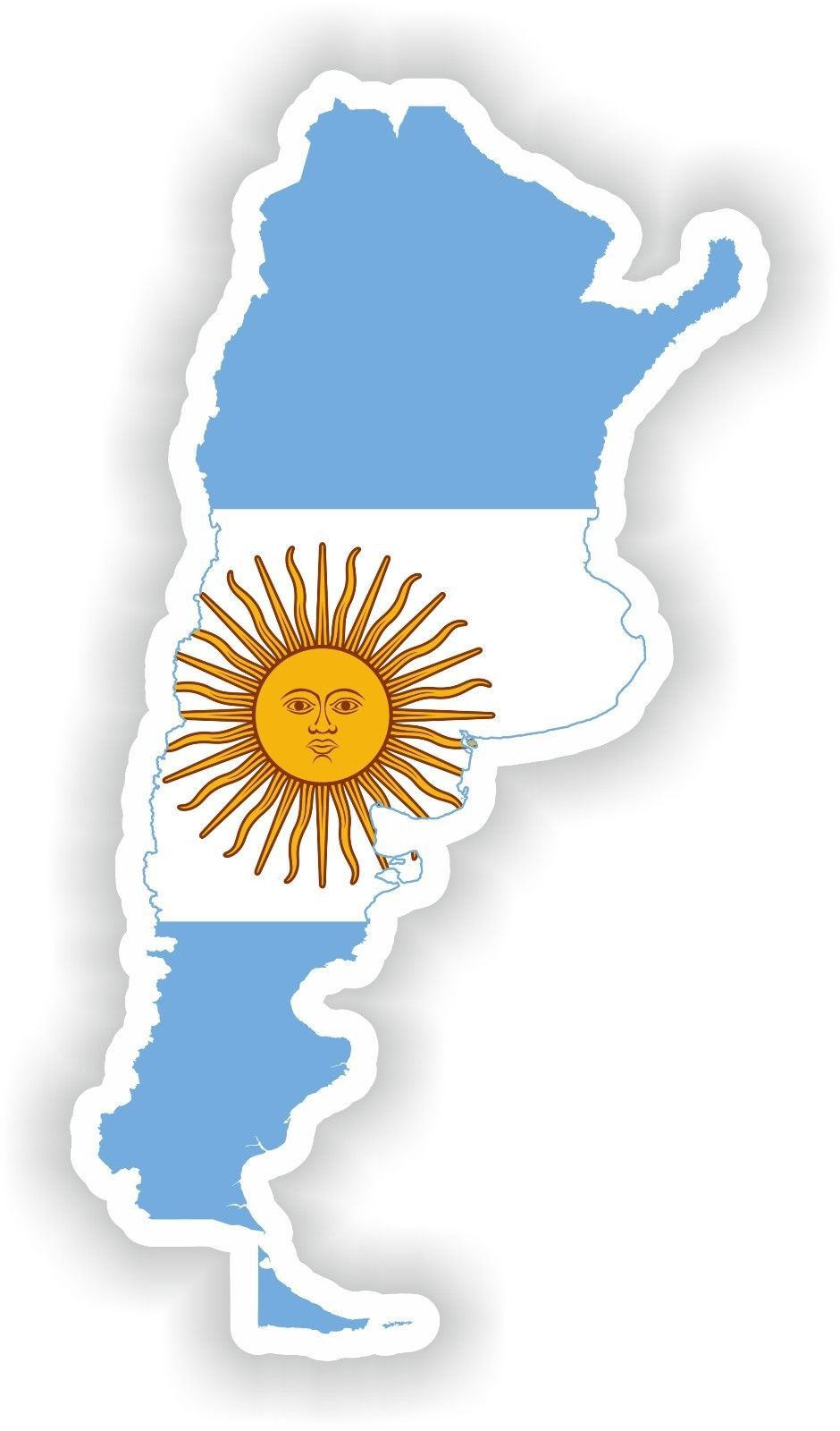"""Spain Map Flag Glossy Label Car Bumper Sticker Decal /""""SIZES/"""""""