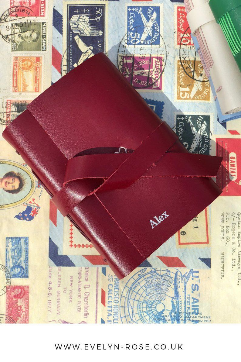 Personalized Leather Notebook, Personalised Handmade