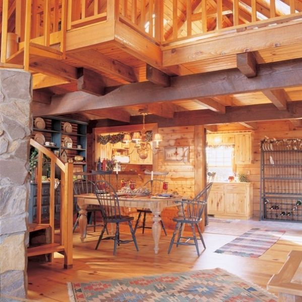 Exceptional Log Cabin Homes U0026 Kits: Interior Photo Gallery