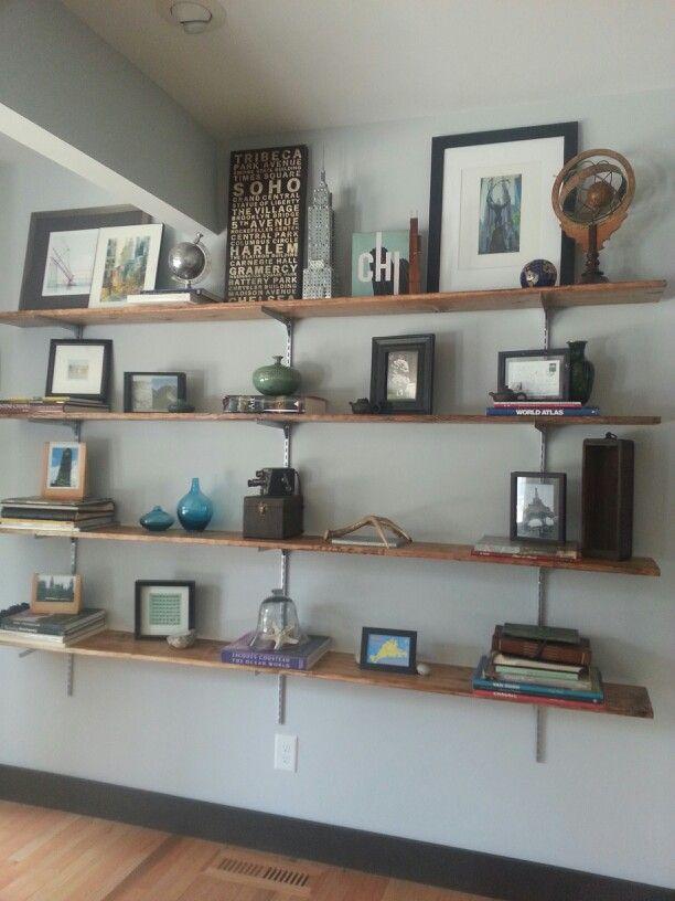 Craft Room Shelving Wall