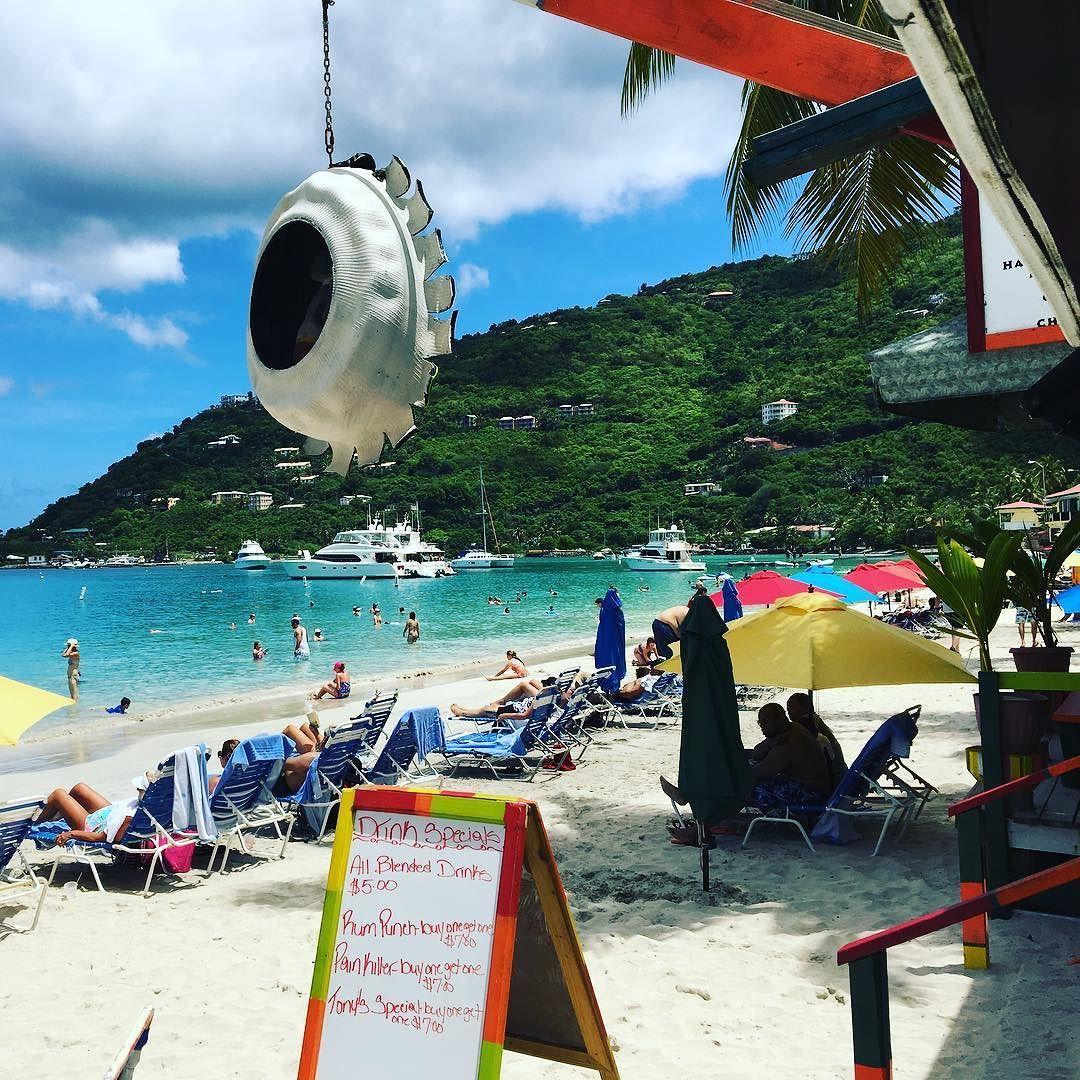 Busy day on Cane Garden Bay Tortola. British Virgin Islands ...