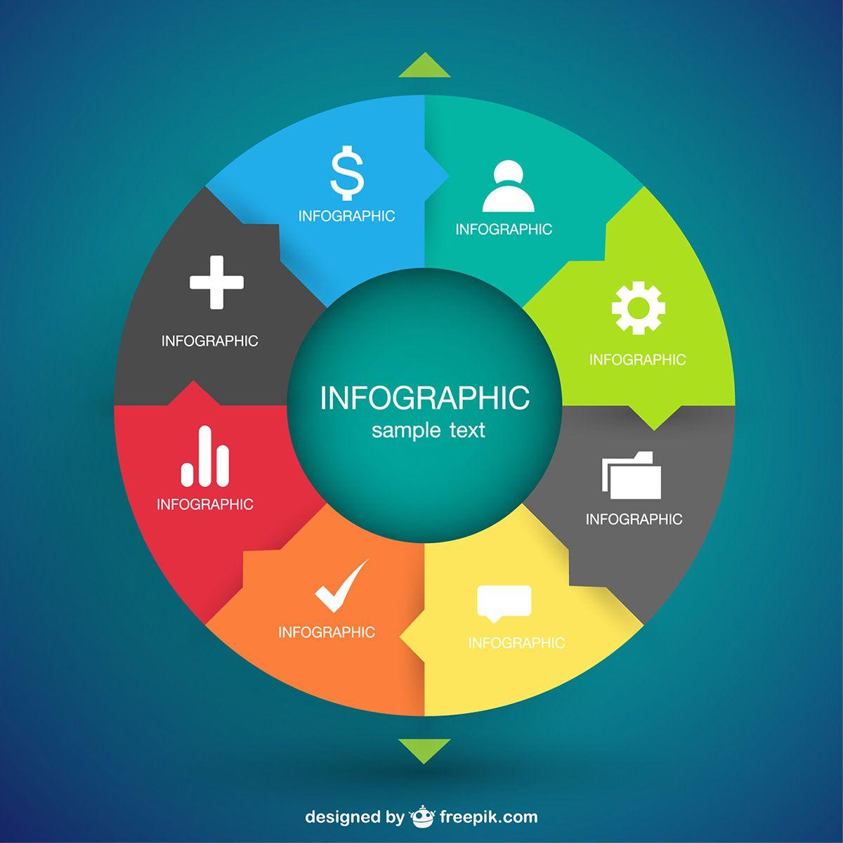 Circular infographic vector art | DISEÑO GRAFICO | Pinterest