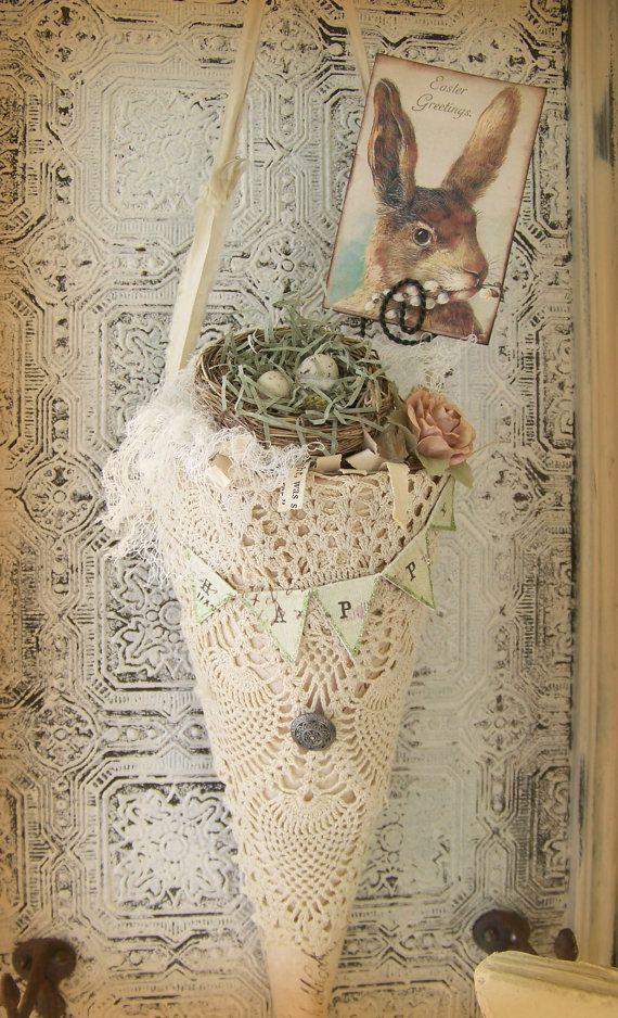 Handmade Easter Decoration Vintage Easter Decor Victorian Easter