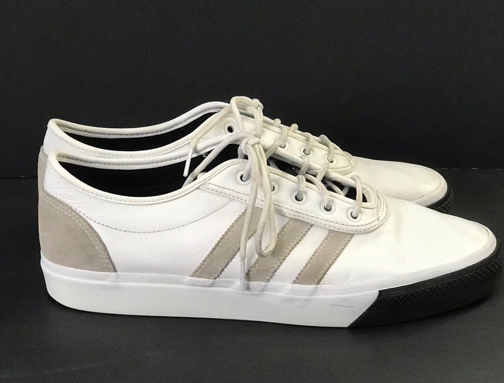 9071db9639fb1 ADIDAS Mens Skateboarding Adi-Ease Classified Sneakers Shoes Size 10.5 White